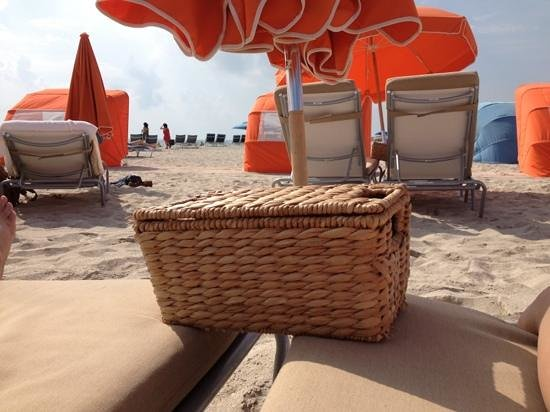 Royal Palm South Beach Miami, A Tribute Portfolio Resort: the beds by the ocean! and the welcome baskets
