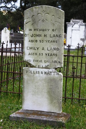 Old Biloxi Cemetery: Dr. John Lang and family