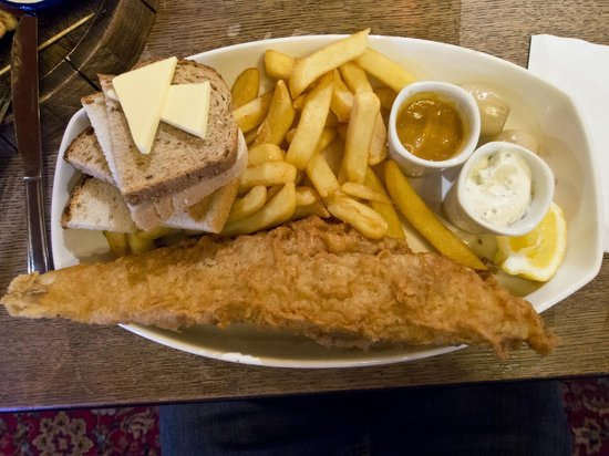 Fish chips bild von the anchor london tripadvisor for Anchor fish and chips