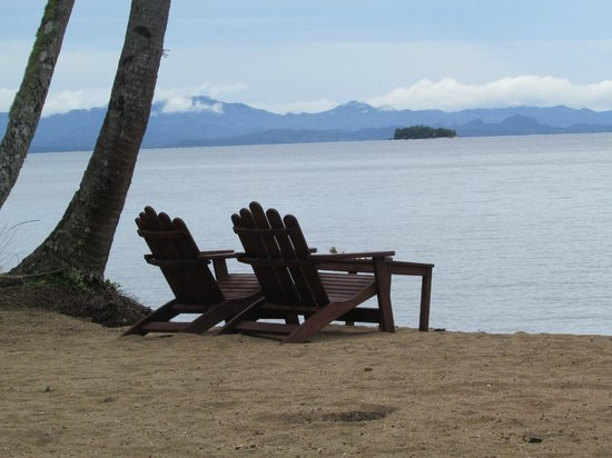 Lalati Resort & Spa: View of the mainland from the beach area