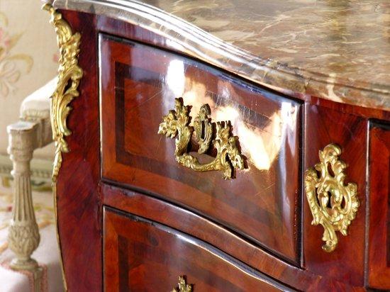 Chateau de la Barre : Precious antiques in the Grand Salon.