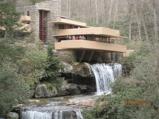 View of Fallingwater and falls