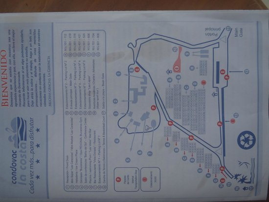 Hotel Condovac la Costa: Map of Condovac