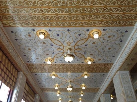 Art Deco Hotel Imperial: restaurant ceiling design