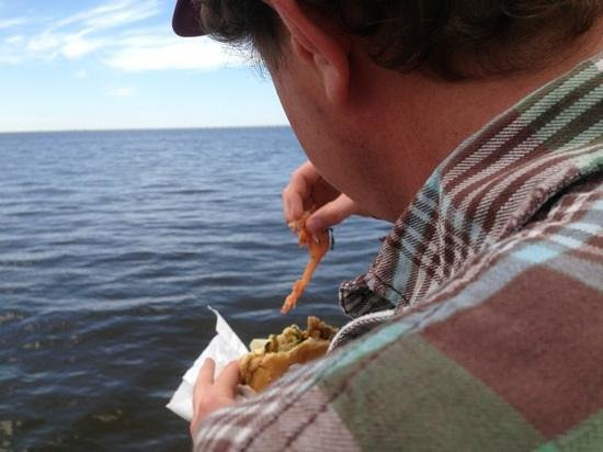 Crabby Jack's: Picnic take-out; Duck po-boy