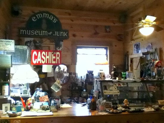 Emma's Museum of Junk: Counter area