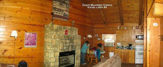 Ozark Mountain Cabins: Inside cabin #4