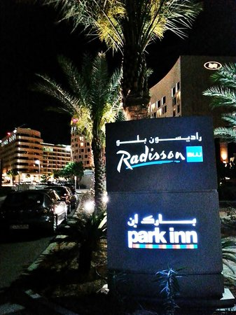 Park Inn by Radisson Abu Dhabi Yas Island: Entrance signage