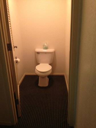 BEST WESTERN Stevens Inn: Toilet closet -- the only part of bathroom with a door (which doesn't close)