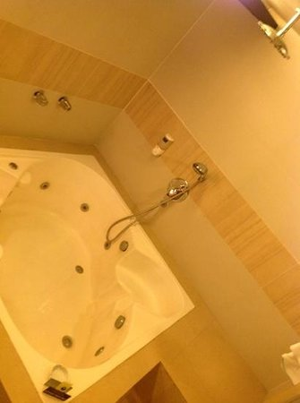 Victoria Court Cuneta Motorist Lodge : jacuzzi tub w rain shower