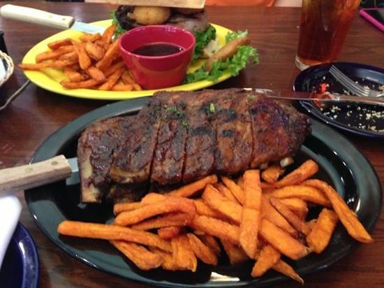 Clementine's: prime rib sandwich & the ribs!