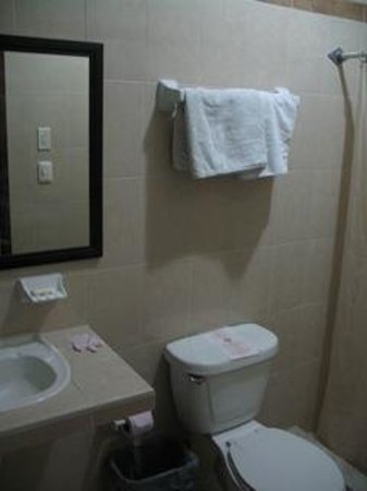 Hotel Santa Maria: Bathroom with shower to the right
