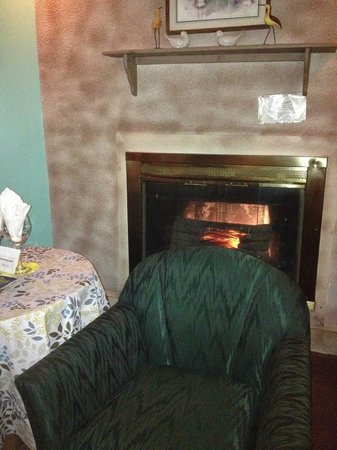 Inn of the Dove: The fireplace