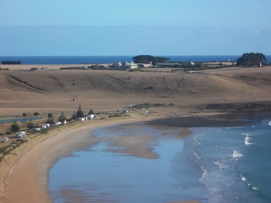 Abbey's Cottages: Godfreys Beach and Highfield from the Nut