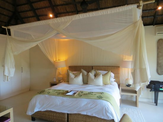 Lion Sands River Lodge: Mosquito net
