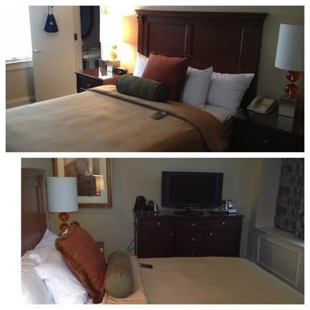 Omni William Penn Hotel: bed and TV
