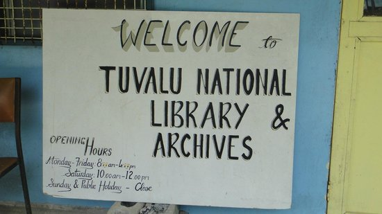 Tuvalu National Library: Worth visiting & chatting with the staff
