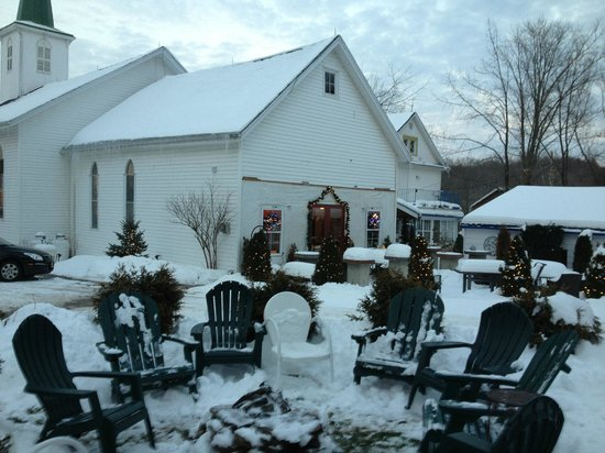 Marienthal Country Inn : View from the Brick House toward the Church Hall