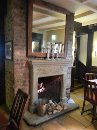 Malthouse Farm: log fire