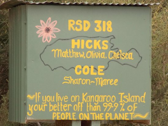 Kangaroo Island Odysseys: Mailbox on Kangaroo Island tells it all
