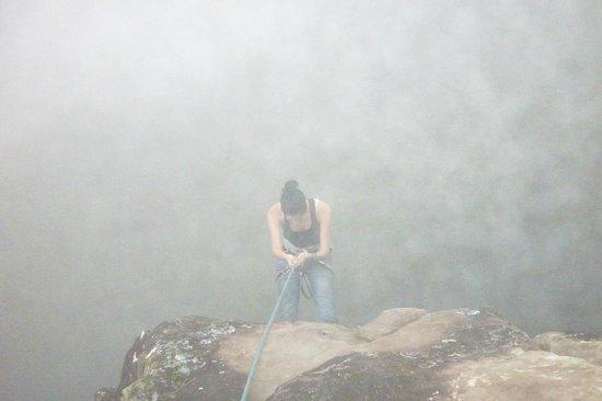 Panama Rock Climbing: rappel