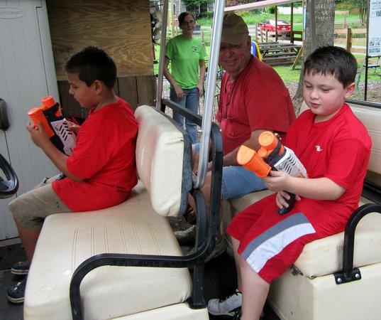 North Georgia Zoo: Squirt gun tour