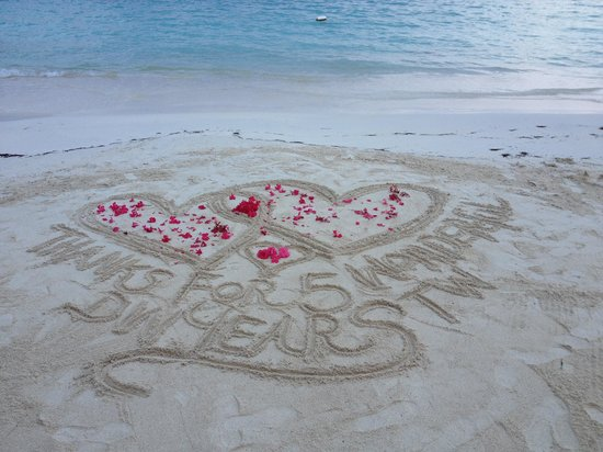 Sandals Montego Bay: One of the photographers made this for us when we told her we were celebrating our 5th anniversa