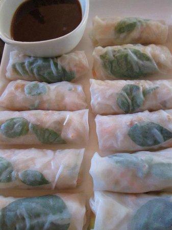 Blue Ginger: prawn spring rolls