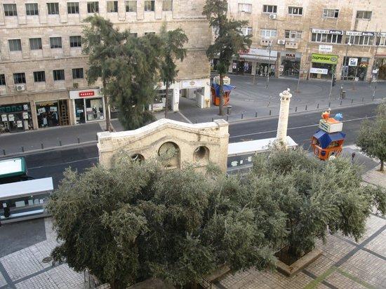 Lev Yerushalayim: Вид из окна номера