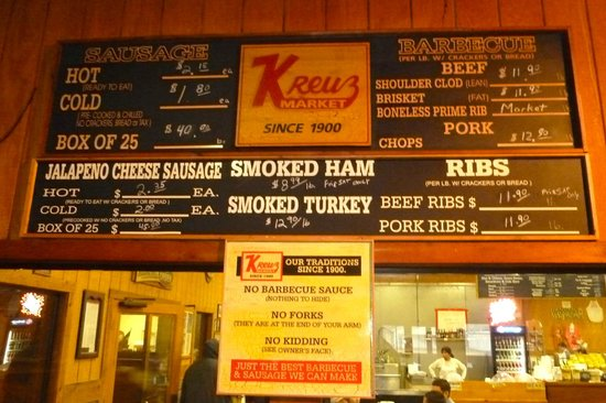 Kreuz market - No Sauce, No Forks