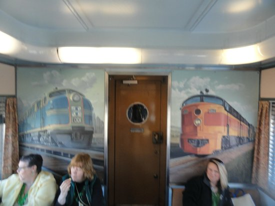 Reno Fun Train: One of the vintage railcars.