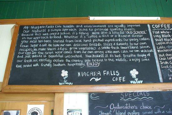 Niagara Falls Cafe: the Niagara falls Café Mission Statement