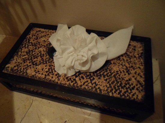 Marriott's Mai Khao Beach - Phuket: Tissue paper folded into flower shape (same for toilet roll & kitchen paper)