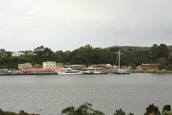 Gordon Gateway: looking at the harbour from the lawns