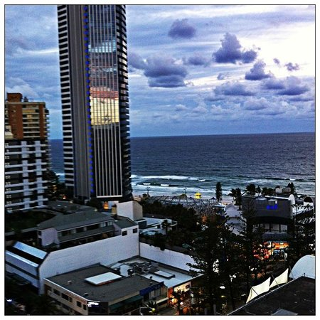 Hotel Grand Chancellor Surfers Paradise: looking east from balcony