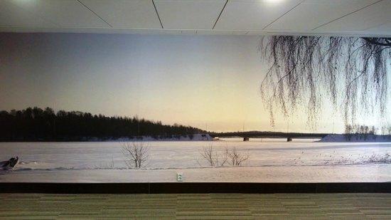 Radisson Blu Hotel, Espoo: Wallpaper in hallway
