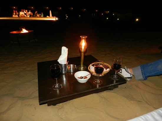 Thar Oasis Resort & Camp : aperitif spectacle