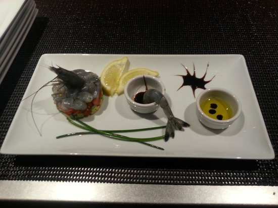 Toinou : tartare de crevettes bleues