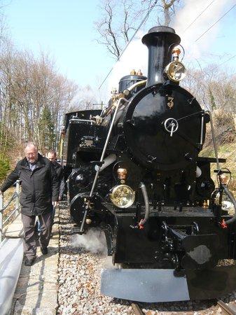 Railway Museum Blonay-Chamby : Gros plan sur une machine à vapeur