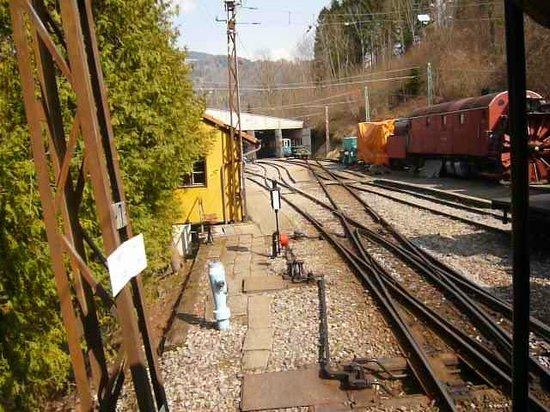 Railway Museum Blonay-Chamby : Le faisceau d'arrivée à Chaulin