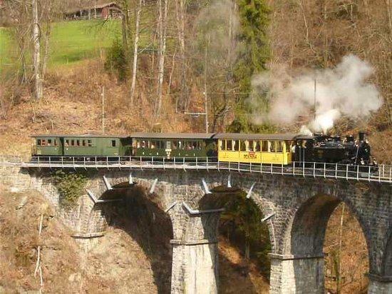 Railway Museum Blonay-Chamby : Vapeur sur le viaduc