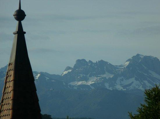 Hotel Restaurant Spatz: Vue de la chambre sur les alpes suisses