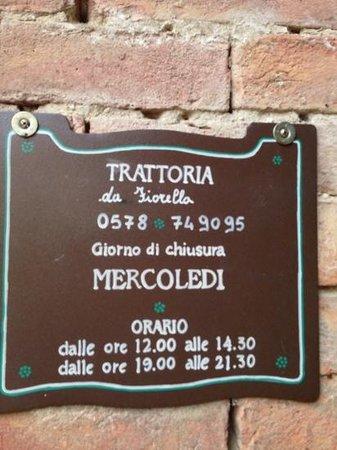 Trattoria Fiorella : Da Fiorella.