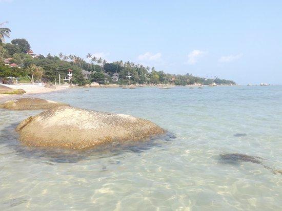 Lamai Beach : La partie nord, rochers et eau turquoise