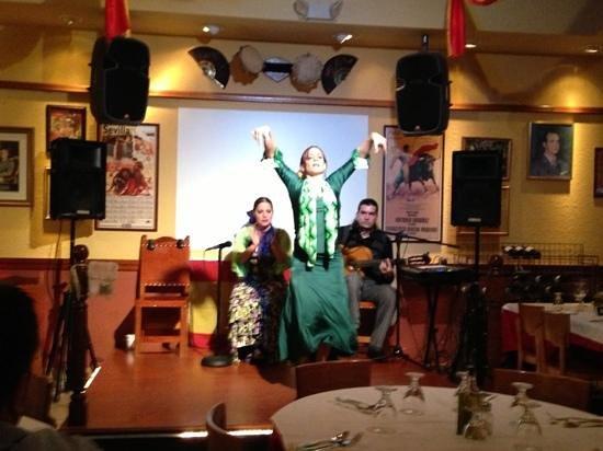 La Taberna DE San Roman: flamenco dancer (Second show)