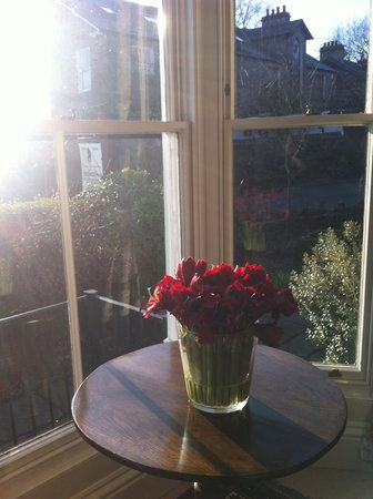Airethwaite House Bed and Breakfast: Waking up to a beautiful sunny morning - a corner of the dining room 1