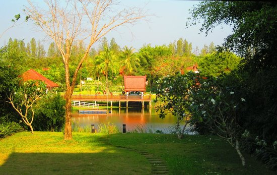 Banyan Tree Phuket: View over the lagoon from our pool garden