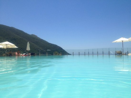 SENSIMAR Grand Mediterraneo Resort & Spa by Atlantica: View from inside the pool...trying hard not to drop the iphone lol