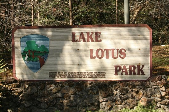 Lake Lotus Nature Park: Sign entering the park