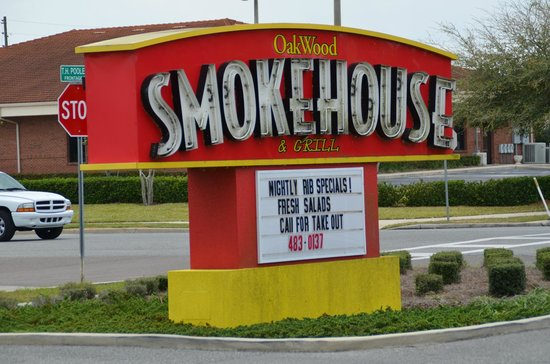 Oakwood Smokehouse & Grill: Advertizements....